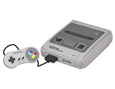 Photo of a Nintendo SNES courtesy of Wikipedia.org